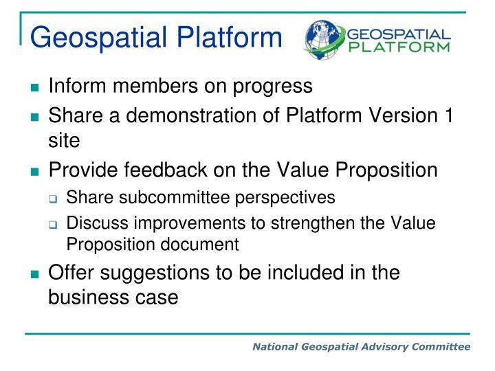 Geospatial Platform