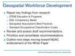 geospatial workforce development
