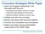 innovative strategies white paper