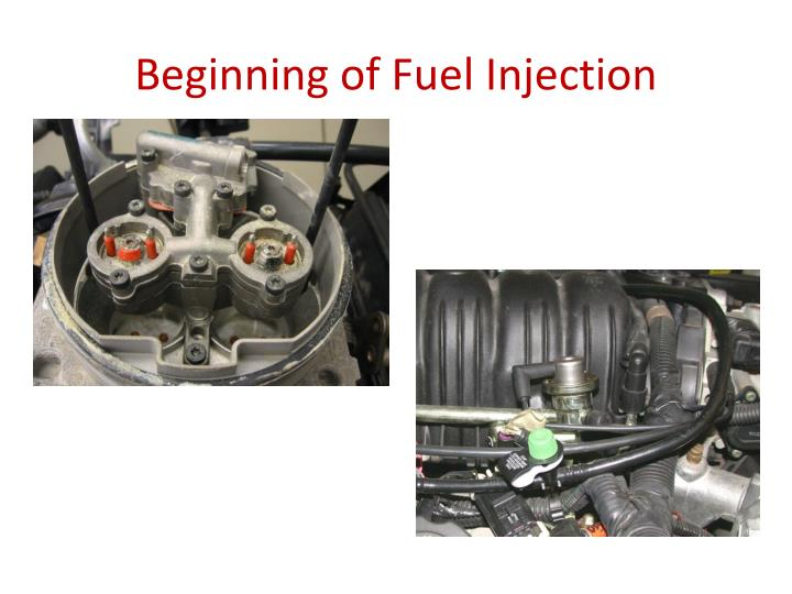 Beginning of Fuel Injection