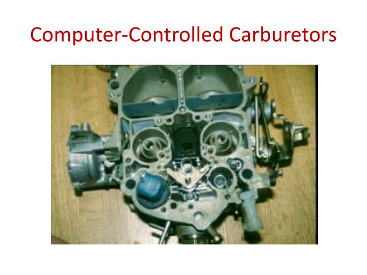 Computer-Controlled Carburetors