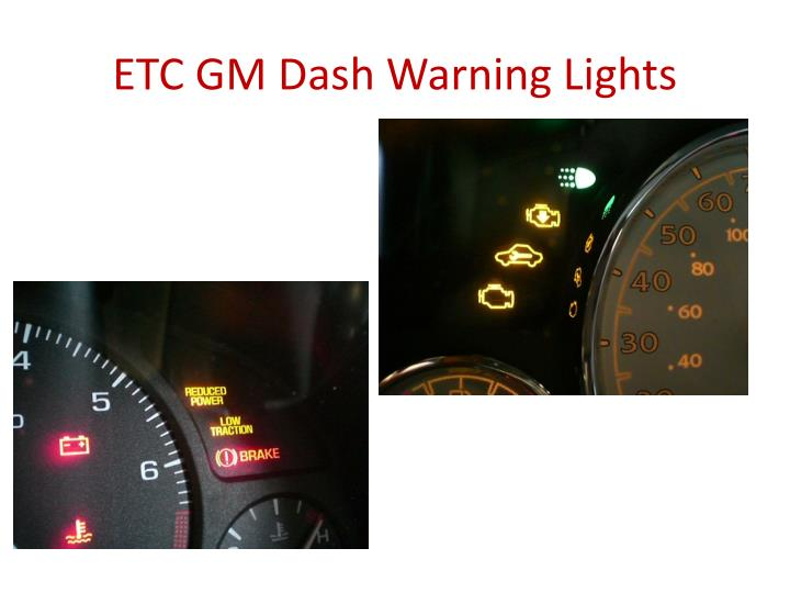 ETC GM Dash Warning Lights