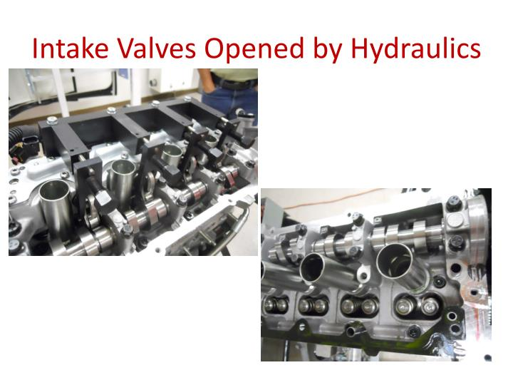Intake Valves Opened by Hydraulics