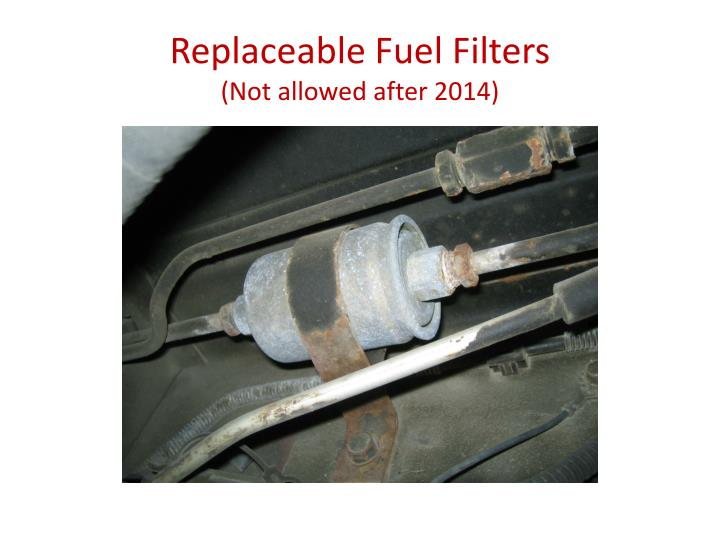 Replaceable Fuel Filters