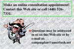 make an online consultation appointment contact this web site or call 440 526 7331