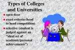 types of colleges and universities