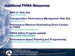 additional fhwa resources