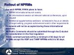 rollout of nprms