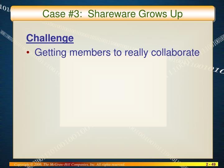 Case #3:  Shareware Grows Up