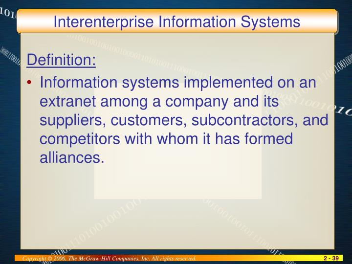 Interenterprise Information Systems
