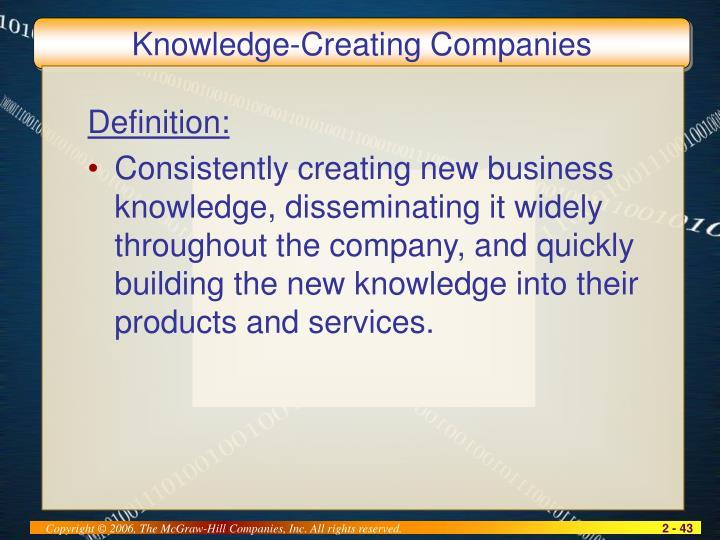 Knowledge-Creating Companies