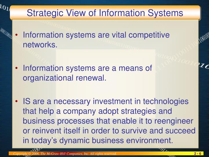 Strategic View of Information Systems