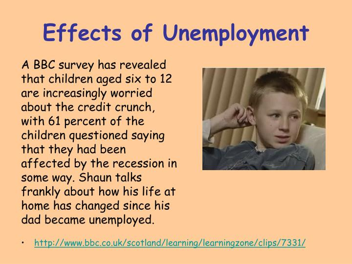 Effects of unemployment1