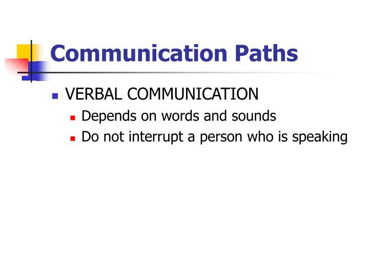Communication Paths