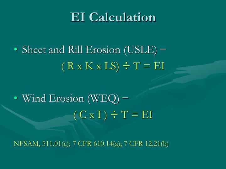 EI Calculation