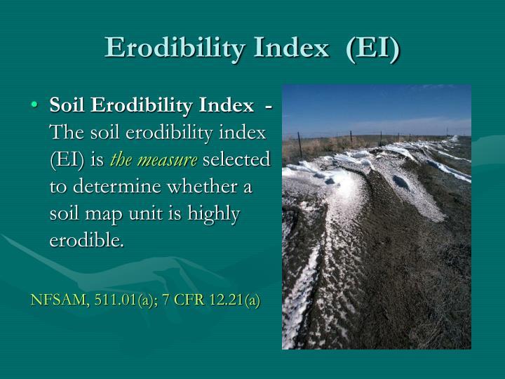 Erodibility Index  (EI)