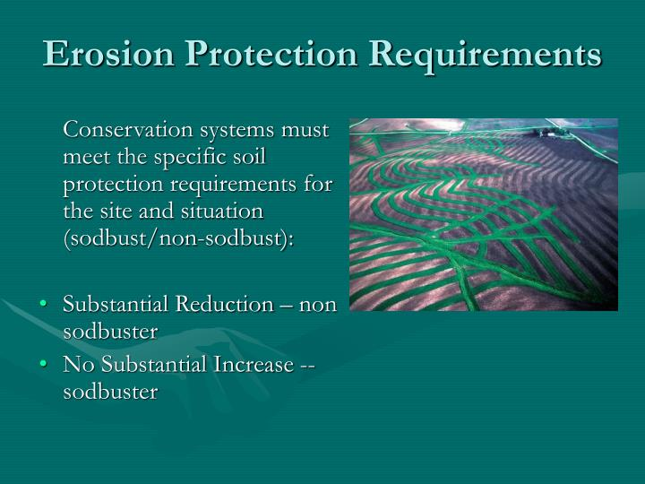 Erosion Protection Requirements