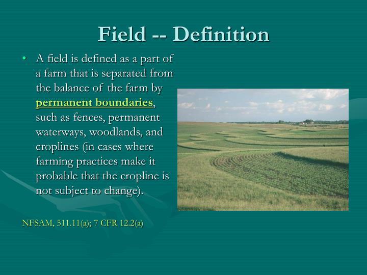 Field -- Definition
