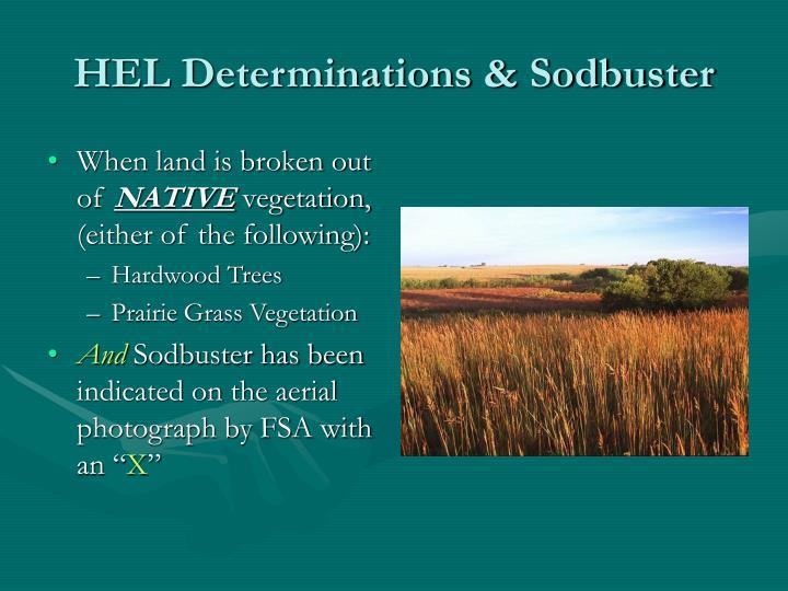 HEL Determinations & Sodbuster