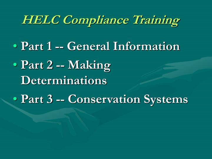 HELC Compliance Training