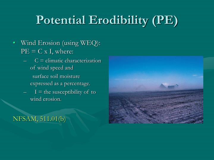 Potential Erodibility (PE)