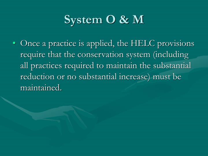 System O & M
