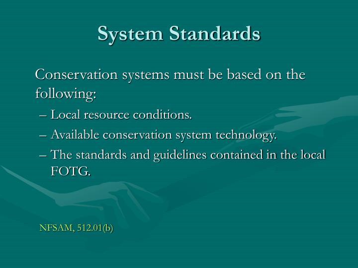 System Standards