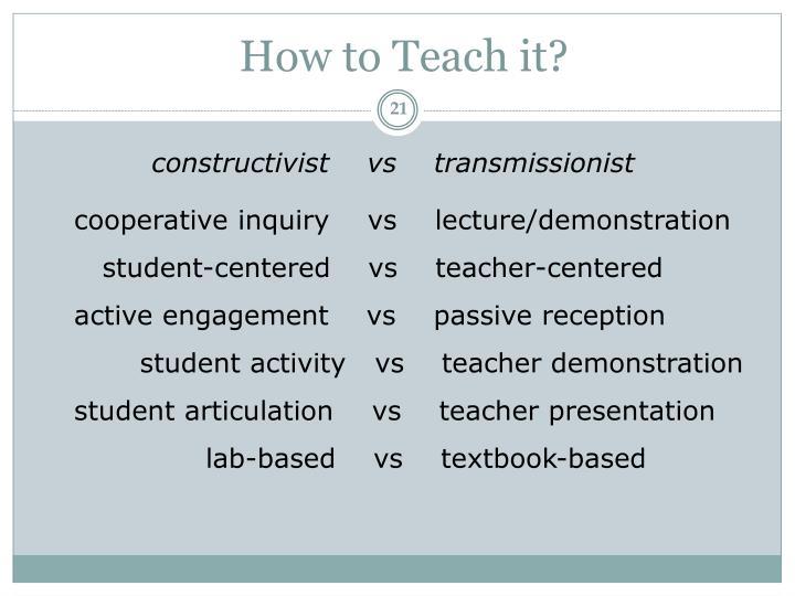How to Teach it?