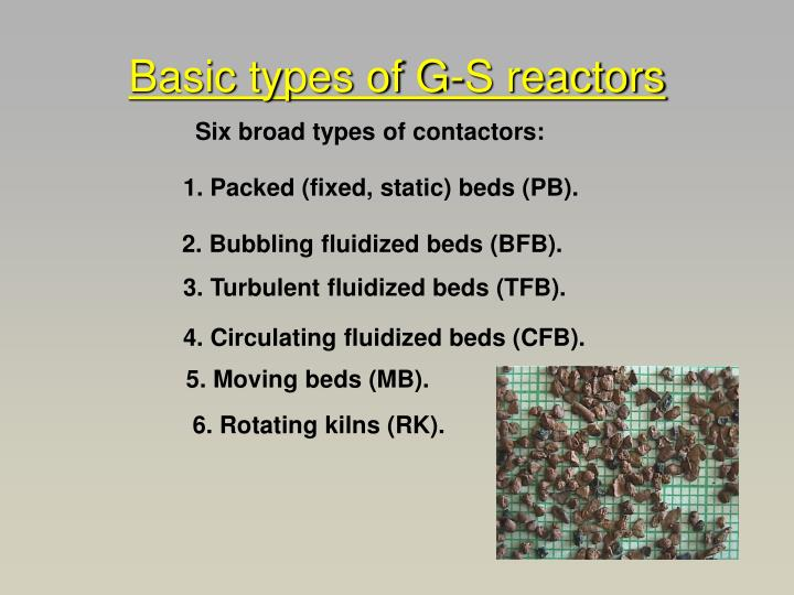 Basic types of G-S reactors