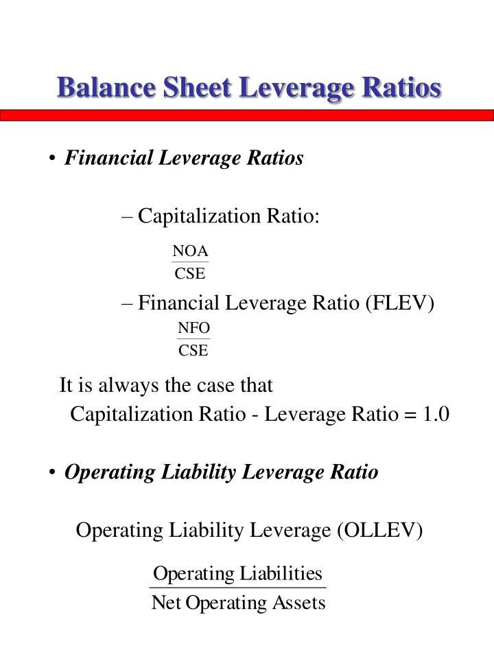 Balance Sheet Leverage Ratios