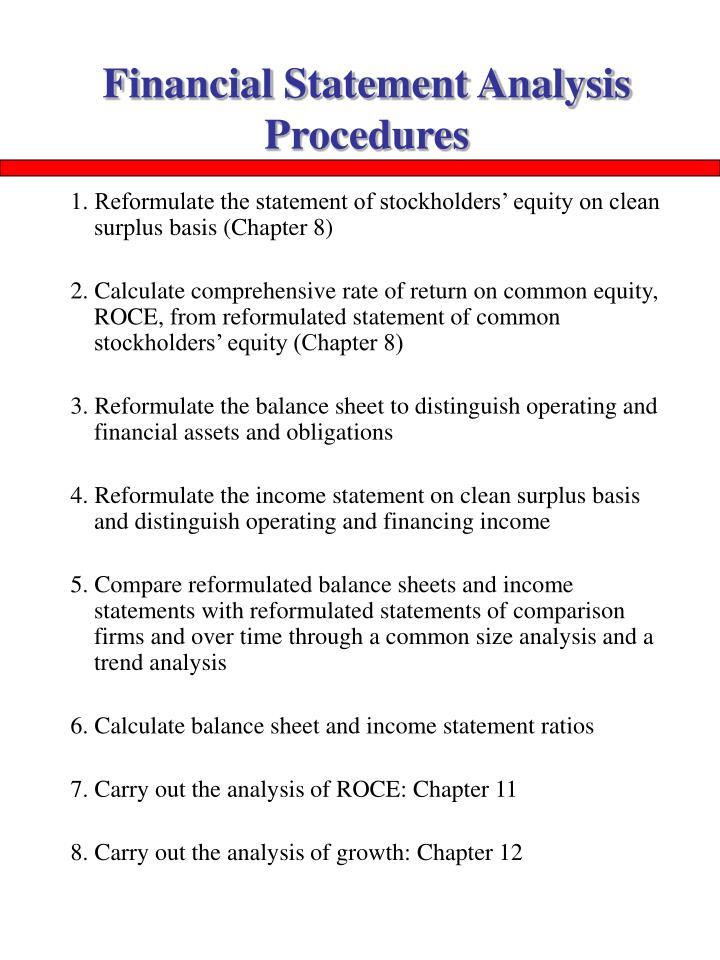 Financial Statement Analysis Procedures