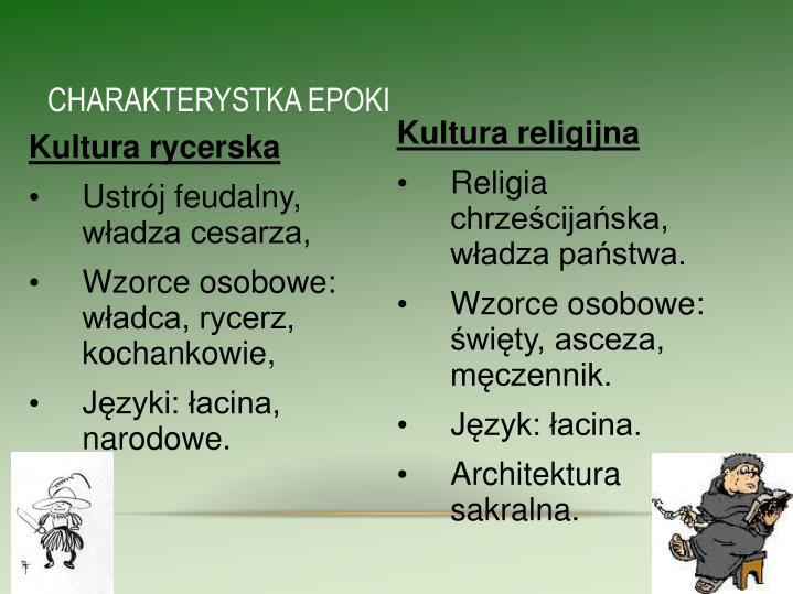 CHARAKTERYSTKA EPOKI
