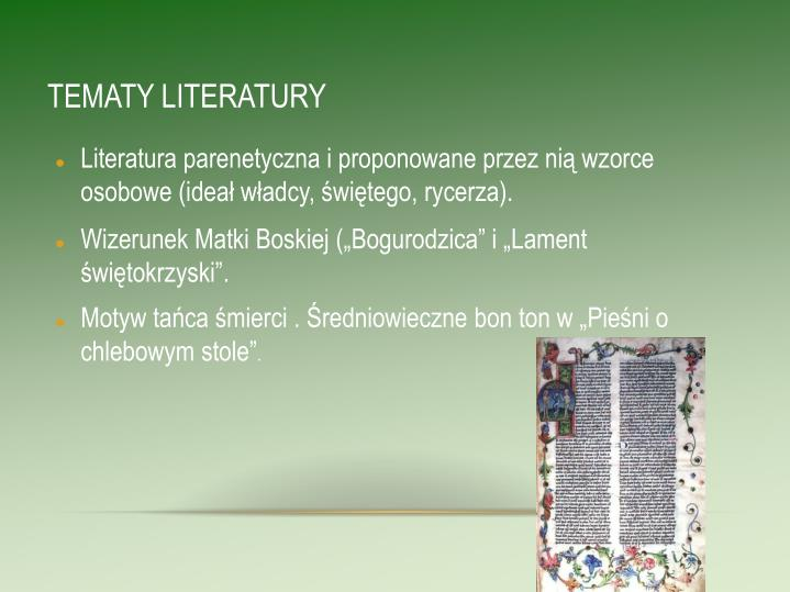 TEMATY LITERATURY