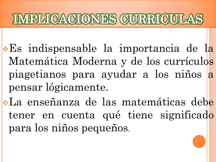 IMPLICACIONES CURRICULAS