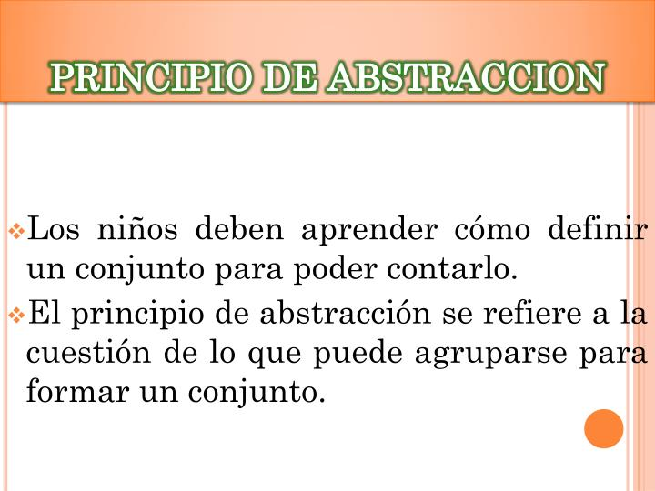 PRINCIPIO DE ABSTRACCION