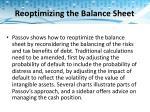 reoptimizing the balance sheet1
