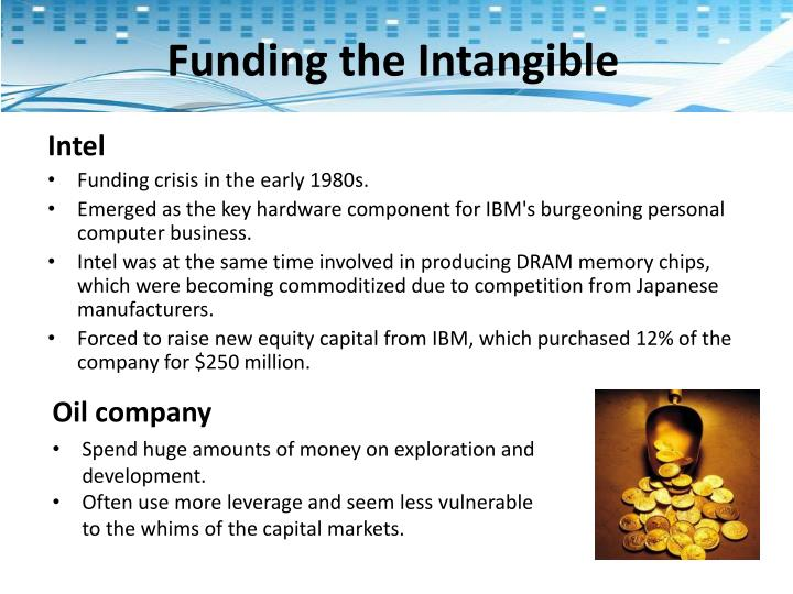 Funding the Intangible