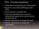 cpu1 processeur graphique