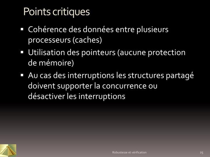 Points critiques