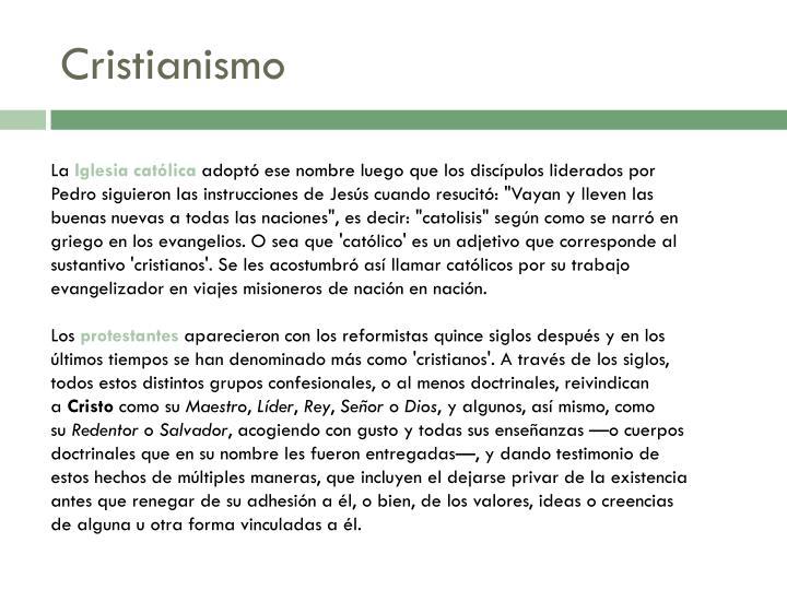 Cristianismo