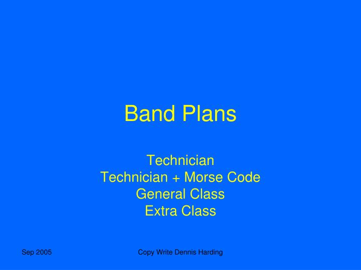 Band Plans