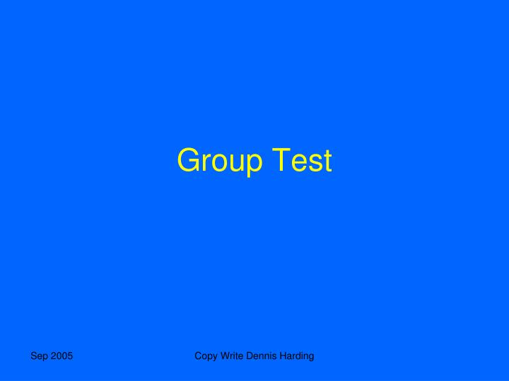 Group Test