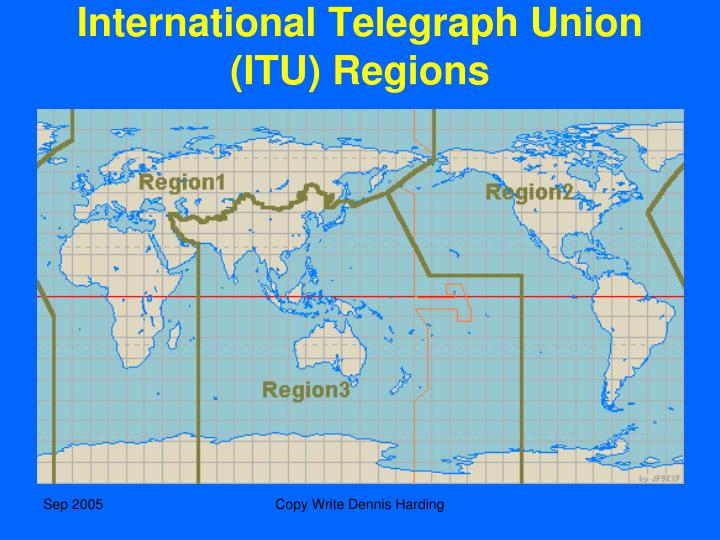 International Telegraph Union (ITU) Regions