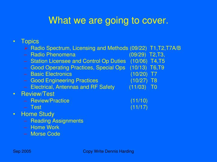 What we are going to cover.