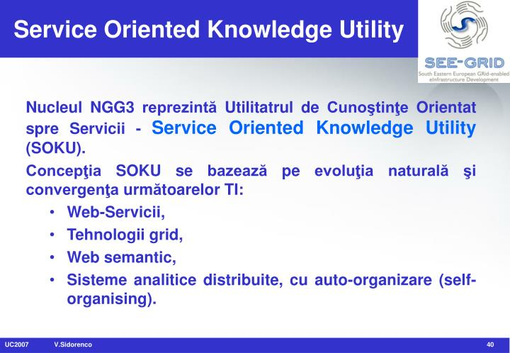 Service Oriented Knowledge Utility
