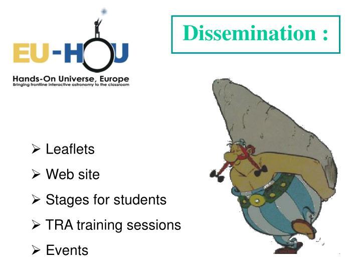 Dissemination :