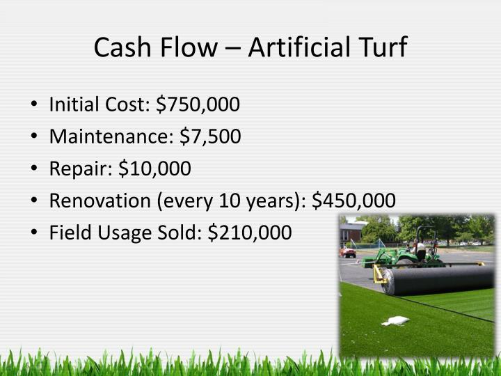 Cash Flow – Artificial Turf