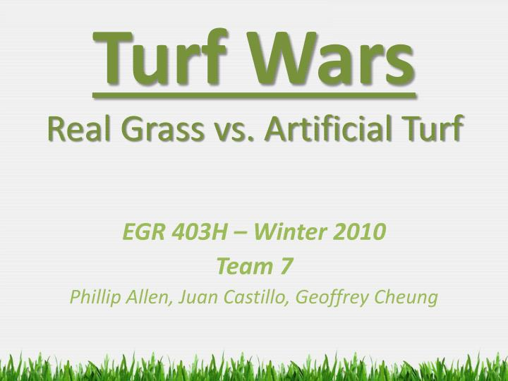 Turf wars real grass vs artificial turf