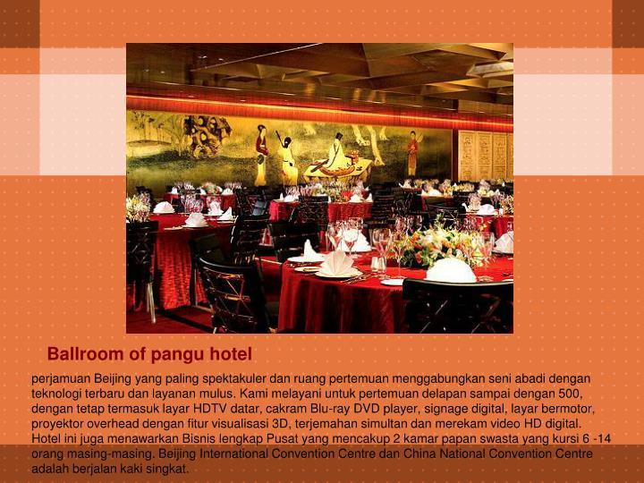 Ballroom of pangu hotel