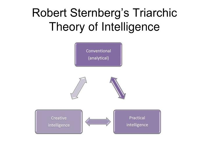 sternberg s triarchic theory of intelligence Educational theory: sternberg's triarchic theory overview robert sternberg's lifelong interest in the study of intelligence began as a child in elementary school in the 1950s.